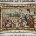 Königin Berta kniet vor Sarkophag der Severiana