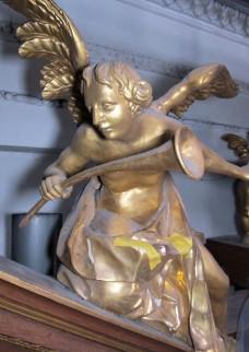 Engel mit Krummhorn