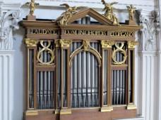 Prospekt Orgelattrappe